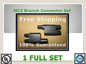 MC 3 Solar PV Cable Connector One Set  Branch- General Solar Supply