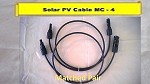 MC 4  Solar Power Cable 3 ft Pairs