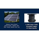 Bulk Solar Cable 50 feet 8AWG Made in US